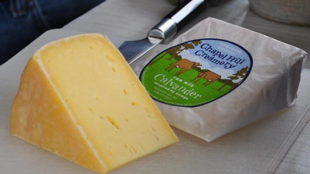Chapel Hill Creamery Calavander cheese.