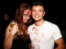 The folks in Durham celebrated Halloween at Fullsteam Brewery's Zombie Prom on Saturday, Oct. 26, 2013.