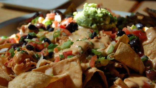 Twisted Fork's nachos.