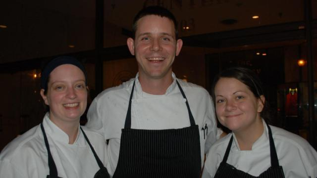 Chef John Bobby and the team from Noble's Grille in Winston-Salem during the Fire in the Triad competition. (Image from Competition Dining)