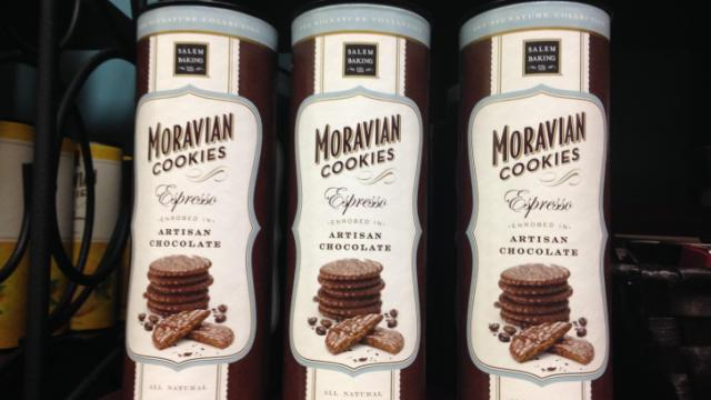 Salem Baking Company offers a variety of flavors for thier Moravian Cookies. (Image by Susan Dosier)