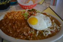 The Southwestern Enchilada at Chuy's at North Hills in Raleigh.