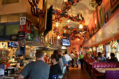 The bar at Chuy's at North Hills in Raleigh.