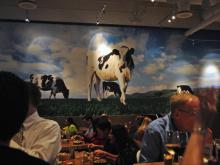 Cow-themed decor at Zinburger.