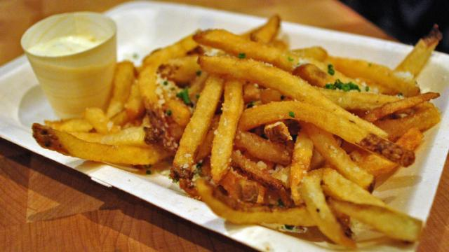 Truffle french fries at Zinburger.
