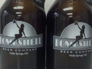Growlers from Bombshell Beer Company (Image from Facebook)