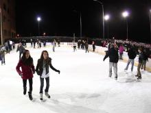 2014 First Night Raleigh, time for some ice skating just before midnight. (Chris Baird / WRAL Contributor)
