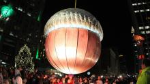IMAGES: Acorn drop rings in 2014 in downtown Raleigh