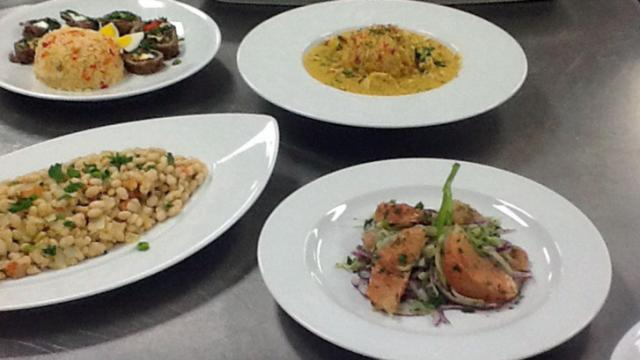 South American dishes prepared by The Chef's Academy.