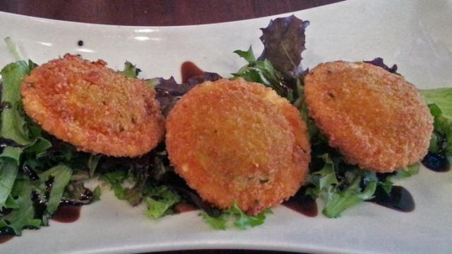 Fried Mushroom Ravioli at Cameron Bar & Grill during Triangle Restaurant Week.