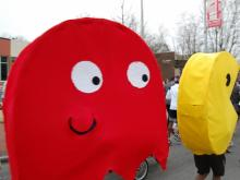 The Krispy Kreme Challenge combines running, eating and a couple thousand crazy costumes. (Photos by Kathy Hanrahan and Caitlin Zanga.)