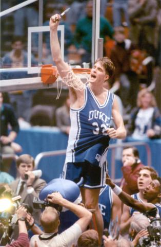 Christian Laettner will coach the Duke team in the Big 3 Legends Game at American Tobacco March 7.