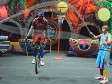 The King Charles unicycle group have tons of tricks in the Ringling Bros. and Barnum and Bailey Circus' Built to Amaze show.