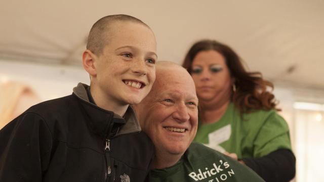 St. Baldrick's head shaving event