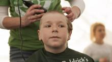 IMAGES: Chapel Hill boy's St. Baldrick's story has happy ending