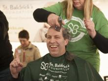 The Hibernian in Raleigh hosted the St. Baldrick's Shave-a-Thon on Saturday, March 1, 2014.