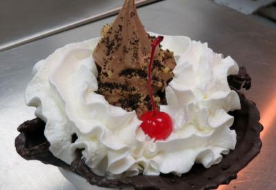 A sundae from Twisted Waffle at PNC Arena in Raleigh. (Image from PNC Arena)