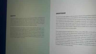Designers provide explanations of each theme in both English and Spanish on the walls of the exhibit.