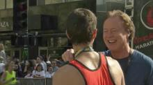 Bill Leslie interviews marathon winner