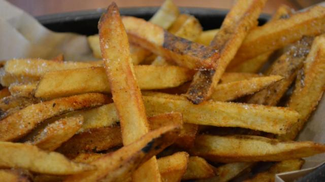 The hand-cut fries at Firewurst.