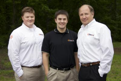 Chas, Dan and Bill Morgenstern run Firewurst, a locally created sausage and hot dog restaurant.