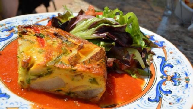 The Tortilla Espanola at Gregoria's Cuban Steakhouse