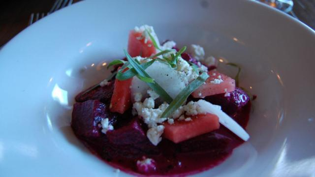 Roasted beet salad at Piedmont in Durham