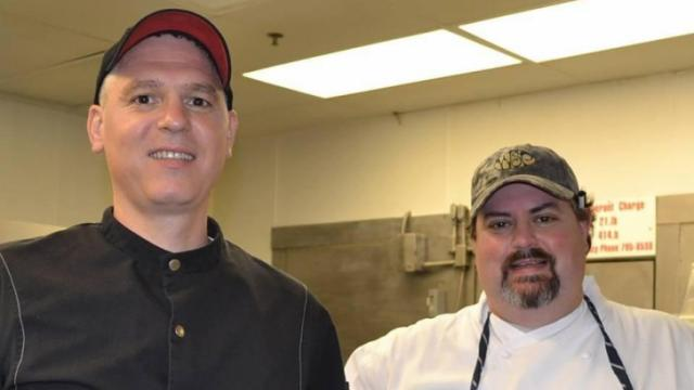 518 West's Serge Falcoz-Vigne and Carolina Inn's James Clark (Image from Competition Dining)