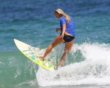 9th Annual Oneill Sweetwater Pro Am surf competition Wrightsville Beach N.C. action from Saturday July 12, 2014. (Chris Baird / WRAL Contributor).