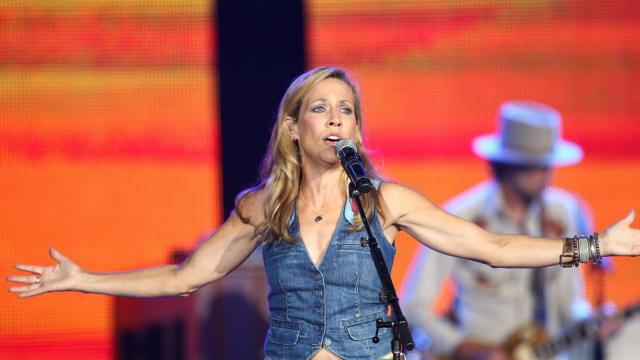 Sheryl Crow performing before  Rascal Flatts in concert on Friday July 25, 2014 in Raleigh N.C. at Walnut Creek Amphitheater. (Chris Baird / WRAL Contributor).