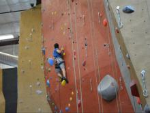 Out and About climbs the 55-foot wall