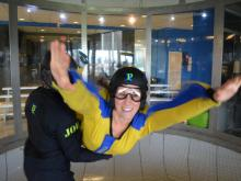 The Out and About team went indoor skydiving at Paraclete XP Sky Adventure in Raeford.