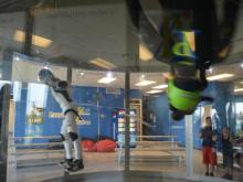 Indoor skydivers take to the air