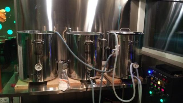 G2B Gastropub in Durham will open a nano brewery this fall. This image shows a late night brew session at the eatery. (Image from Facebook)