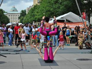 Circus performers at SPARKcon 2014.