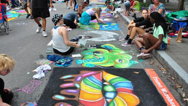 Beautiful street art at SPARKcon 2014.