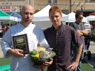 Team Mura took home the overall award in the Iron Chef Challenge at the Midtown Farmers' Market on Sept. 27, 2014.