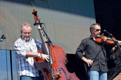 Balsam Range played the Red Hat Amphitheater during the Wide Open Bluegrass Festival in downtown Raleigh on Oct. 3, 2014.