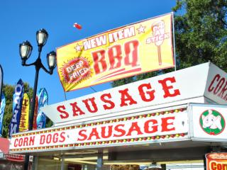 Try fried barbecue on a stick at the 2014 NC State Fair.