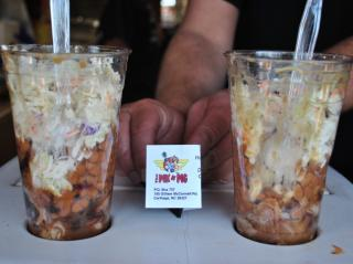 Pik 'n Pig serves Barbecue Sundaes, one of our favorites, at the 2014 NC State Fair.