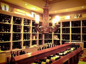 The wine cellar at Fearrington House