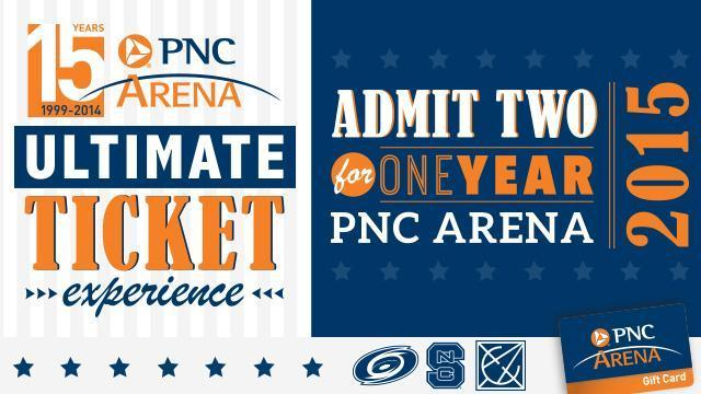 "PNC Arena is holding the ""Ultimate Ticket Experience"" contest."