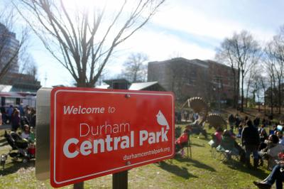 Durham Central Park hosts a farmers market and food truck rodeos