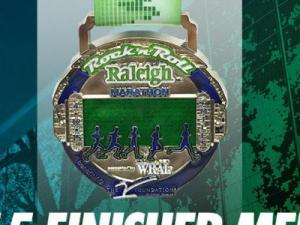 2015 Rock 'n' Roll Raleigh Marathon medal