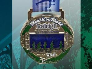 2015 Rock 'n' Roll Raleigh Half Marathon medal