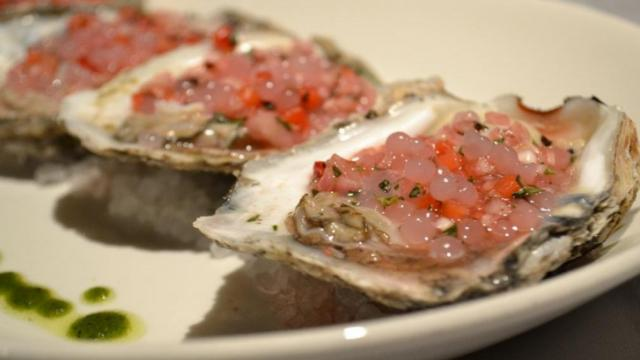 Hand-shucked oysters