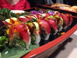 A sushi boat at Basan
