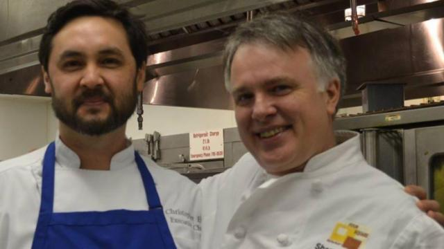 Chef Chris Hill of Faire and Shane Ingram of Four Square