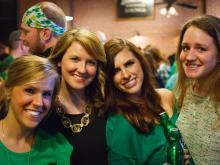 Patrons pose for a photo at Tir na Nog. Photos by: Carlton Bassett