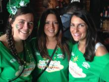 Raleigh patrons celebrated St. Patrick's Day at Tir na nOg and Moore Square.